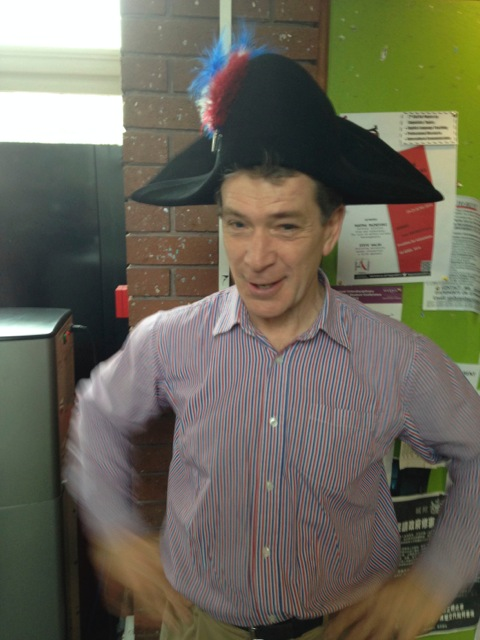 Gareth tries hat for size