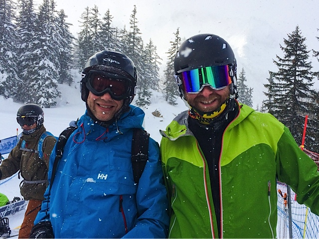 Jim and Andrew at Les Houches