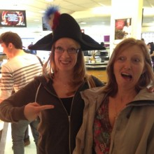 Hat fun at lunch
